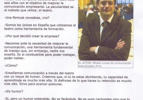 ENTREVISTA - EL COMERCIO DIGITAL