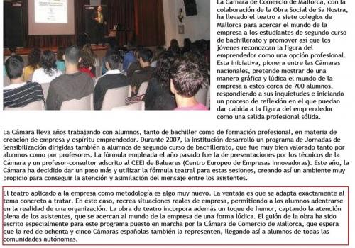 EL EMPRENDEDOR - CÁMARA DE COMERCIO MALLORCA
